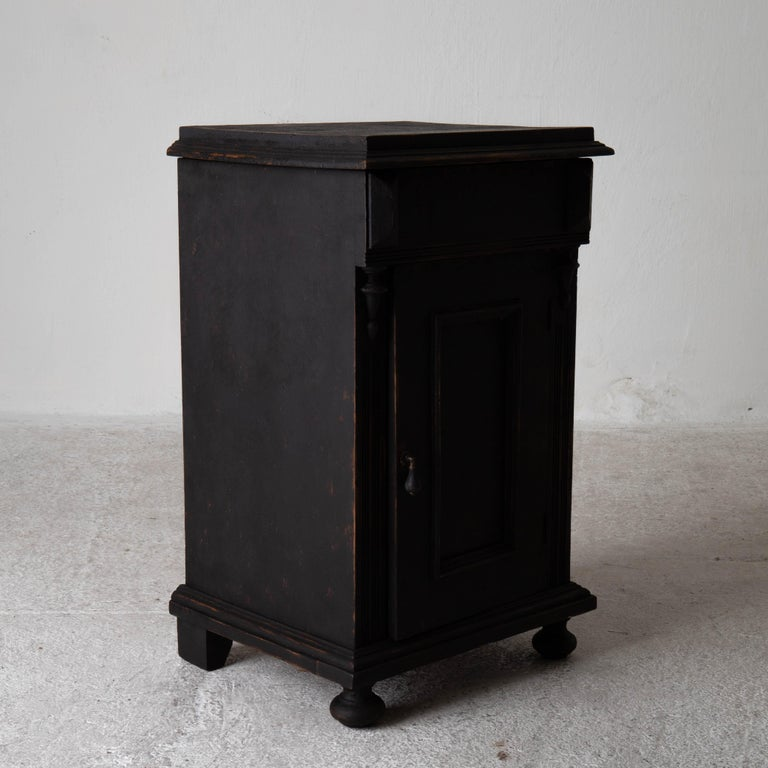 Nightstand Swedish Black, Late 19th Century, Sweden For Sale 4