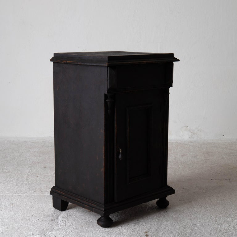 Nightstand Swedish Black, Late 19th Century, Sweden For Sale 5