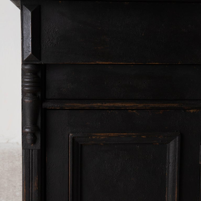 Nightstand Swedish Black, Late 19th Century, Sweden For Sale 6