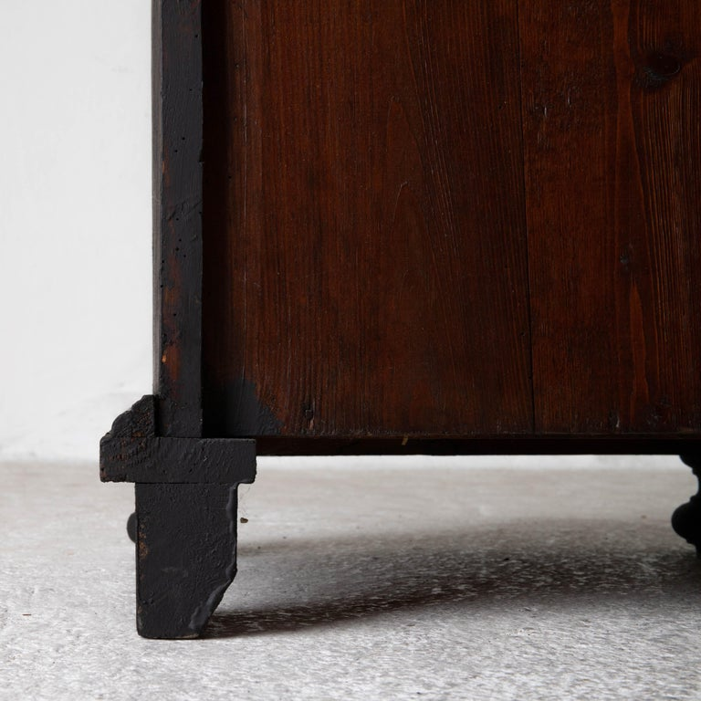 Nightstand Swedish Black, Late 19th Century, Sweden For Sale 7