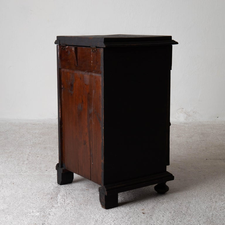 Nightstand Swedish Black, Late 19th Century, Sweden For Sale 8
