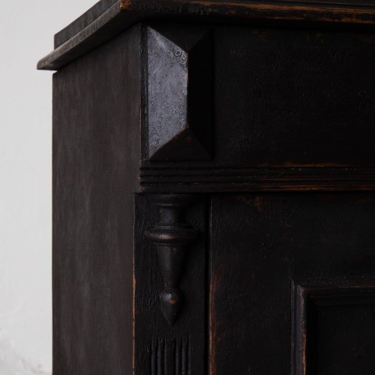 Nightstand Swedish Black, Late 19th Century, Sweden For Sale 1