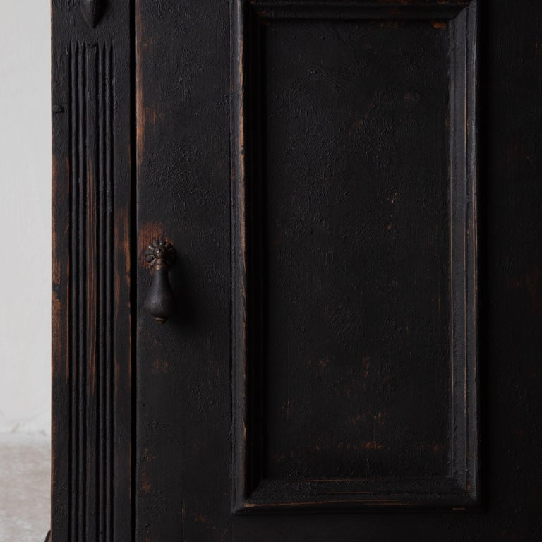 Nightstand Swedish Black, Late 19th Century, Sweden For Sale 2