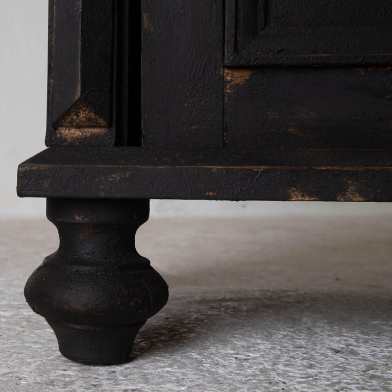 Nightstand Swedish Black, Late 19th Century, Sweden For Sale 3