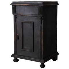 Nightstand Swedish Black, Late 19th Century, Sweden