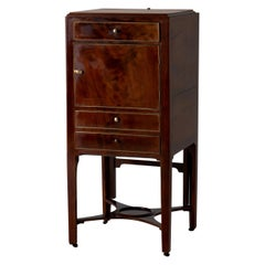 Nightstand Vanity Table Gustavian Swedish Mahogany Brass Lining, Sweden