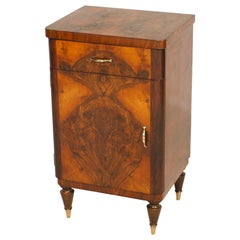 Nightstands 1920s Art Deco by Gaetano Borsani, in Burl walnut