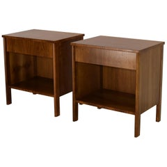 Nightstands by Dale Ford for John Widdicomb in Walnut