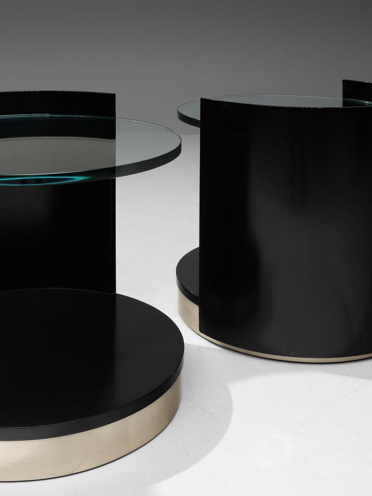 Metal Nightstands by Gianni Moscatelli for Formanova For Sale