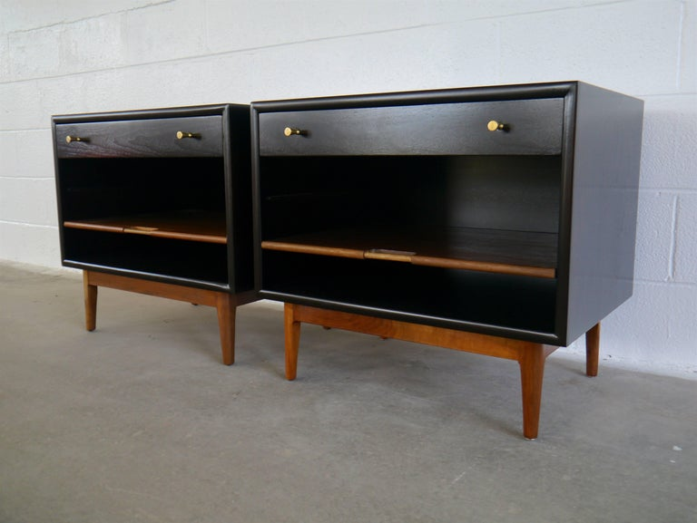 Mid-Century Modern Nightstands by Kipp Stewart For Sale