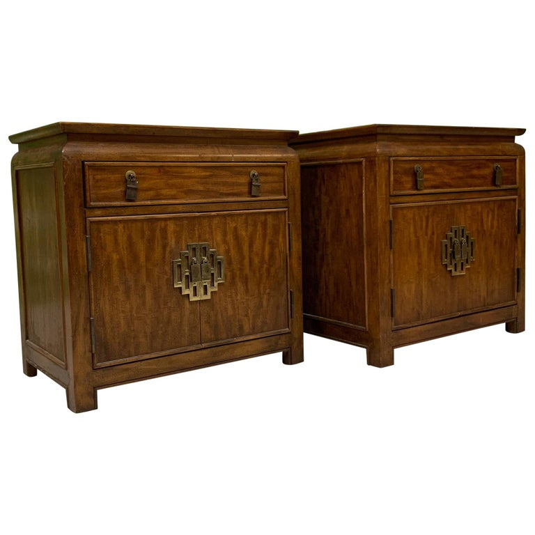 Nightstands by Raymond Sobota for Century Furniture Chin Hua Collection For Sale