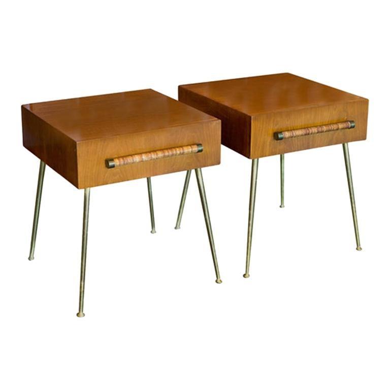 Nightstands or Side Tables by T. H. Robsjohn-Gibbings, 1950s