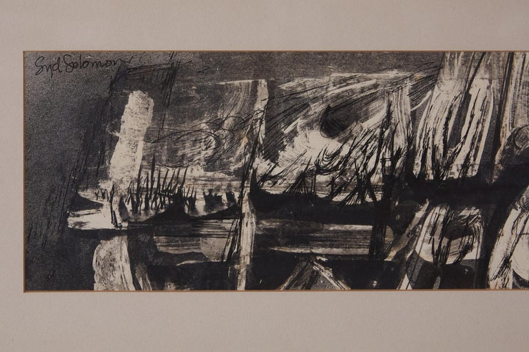 "Modern ""Nightwind"" Abstract Ink Drawing by Syd Solomon For Sale"