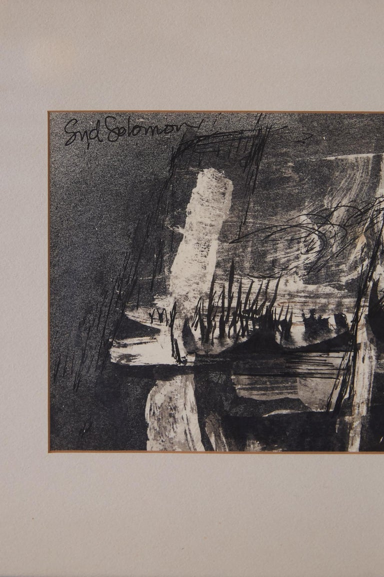 "American ""Nightwind"" Abstract Ink Drawing by Syd Solomon For Sale"