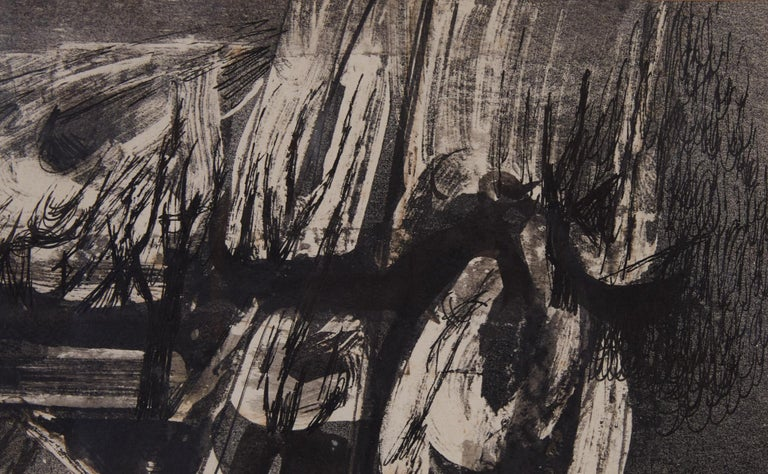"""Nightwind"" Abstract Ink Drawing by Syd Solomon In Excellent Condition For Sale In Los Angeles, CA"