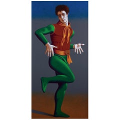 Nijinsky as Till Eulenspiegel, Life-Size Painting by Lynn Curlee