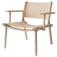 Nikari December Extra Large Lounge Chair Ash and Nude Leather