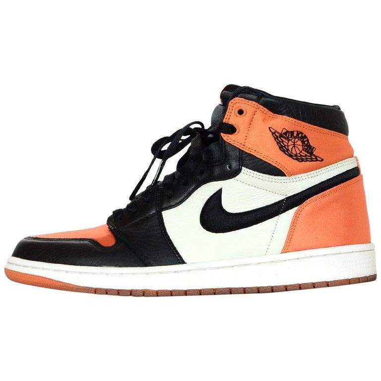 Nike Women s Black Starfish Sail Air Jordan 1 Retro High OG Sneakers Sz 11 a22000c09f