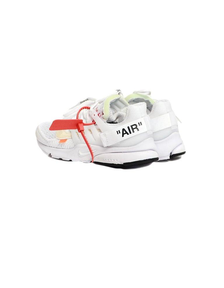 Gray Nike x Off-White Men's NWT White The 10 Air Presto Sneakers sz 8 For Sale