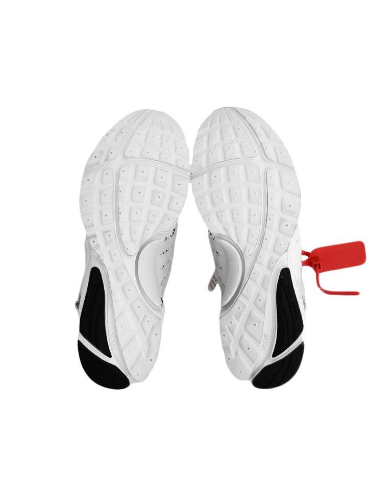 Nike x Off-White Men's NWT White The 10 Air Presto Sneakers sz 8 For Sale 2