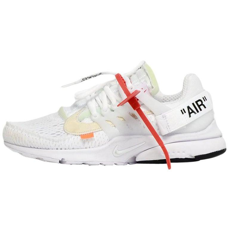 Nike x Off-White Men's NWT White The 10 Air Presto Sneakers sz 8 For Sale