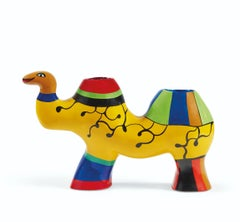 Niki de Saint Phalle Little Camel Polyester Resin Sculpture and Vase 1986