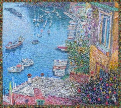 """La Corricella.Procida."" Painting 8"" x 8"" inch by Nikita Makarov"