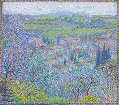 """""""Spring.Certaldo."""" Painting by Nikita Makarov"""