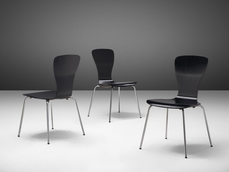 'Nikke' Dining Chairs by Tapio Wirkkala In Good Condition For Sale In Waalwijk, NL