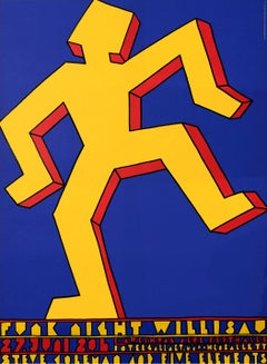 """Funk Night Willisau"" Original Vintage Jazz Festival Poster 1980s"