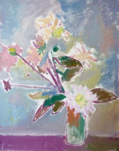 Flower Still Life - 21st Century Contemporary Fauvist Floral Oil Painting