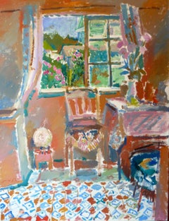 Nina's Summer House - 21st Century Contemporary Bright Fauvist Oil Painting