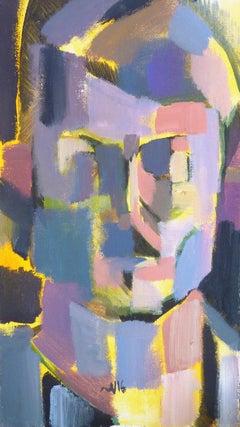 Self-Portrait - 21st Century Contemporary Cubist Portait Oil Painting