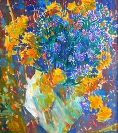 Summer Harmony - 21st Century Contemporary Pointillism Nature Oil Painting