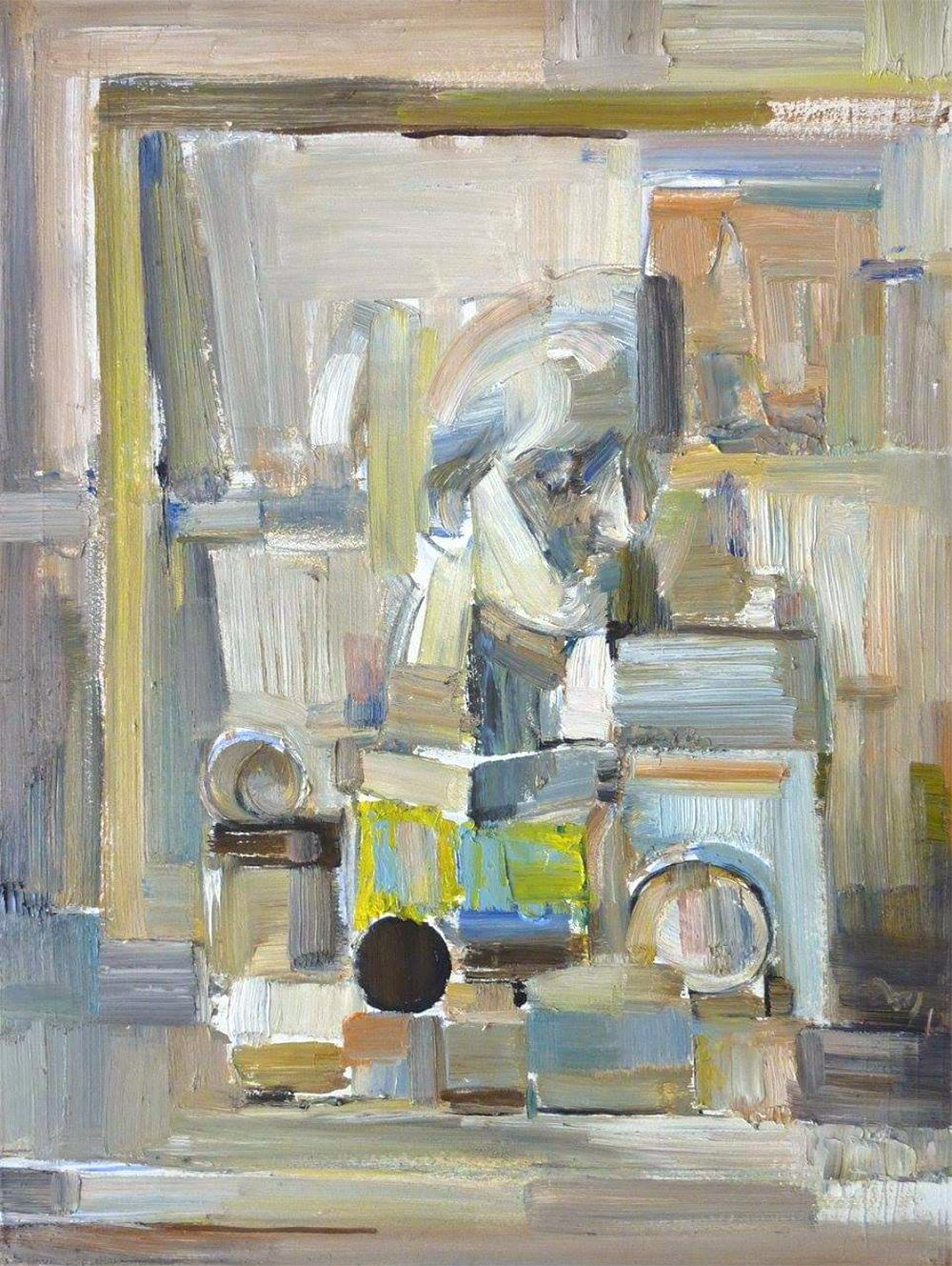 White Still Life No.1 - 21st Century Contemporary Cubist Painting