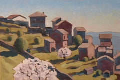 mountain villages, Painting, Oil on Canvas