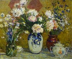 """Flowers"" Oil cm. 61 x 48 1970"