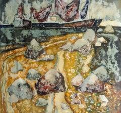 On the shore. 1972, paper, watercolor, 70x75 cm