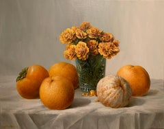 Still Life in Orange, Oil Painting