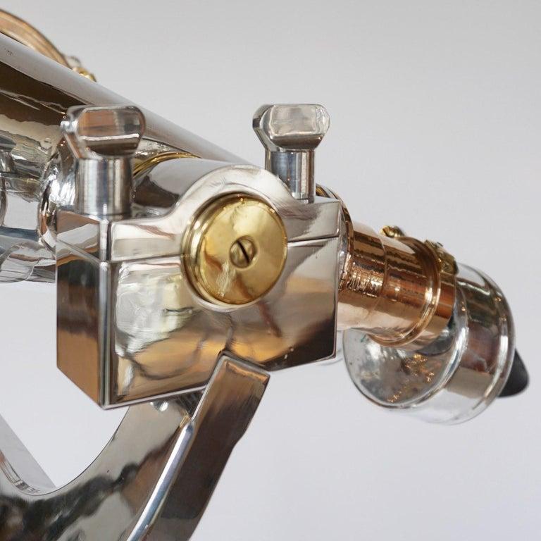 Nikon 20x120 WW11 Naval Binoculars Chromed Metal and Brass For Sale 6
