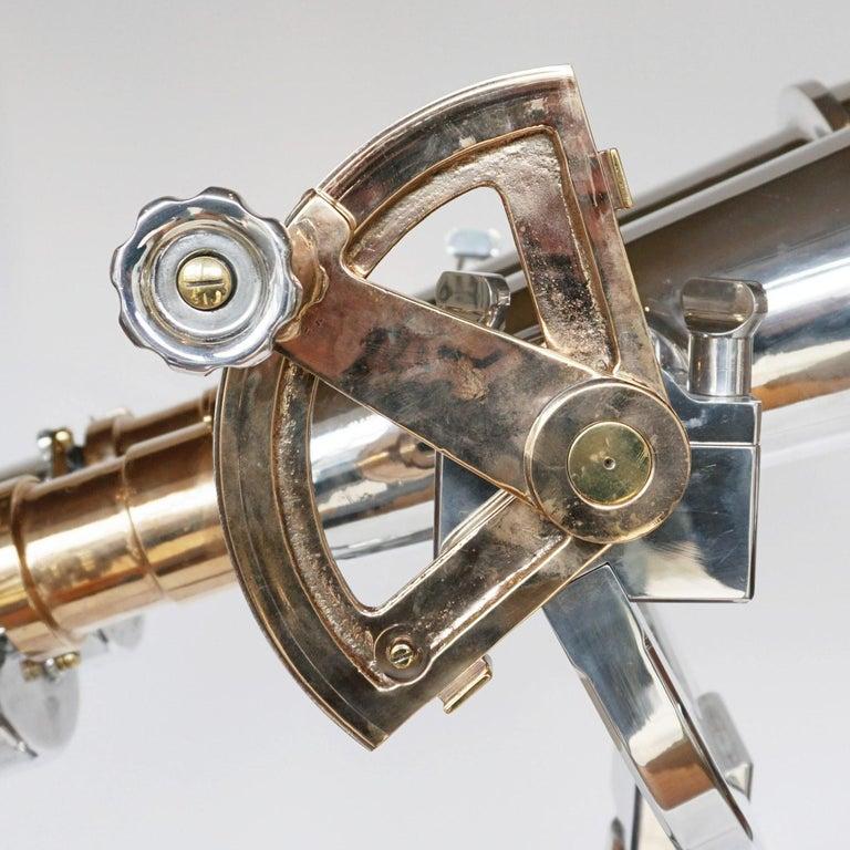 Nikon 20x120 WW11 Naval Binoculars Chromed Metal and Brass For Sale 1