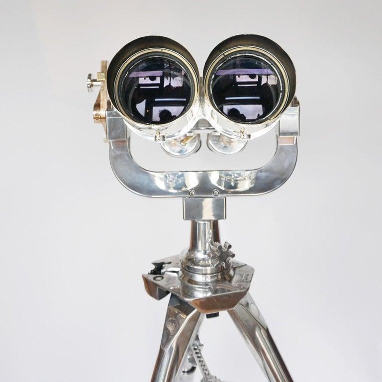 Nikon 20x120 WW11 Naval Binoculars Chromed Metal and Brass For Sale 3