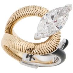 Nikos Koulis Marquis -Cut Flawless 3.09 Carat Diamond Ring