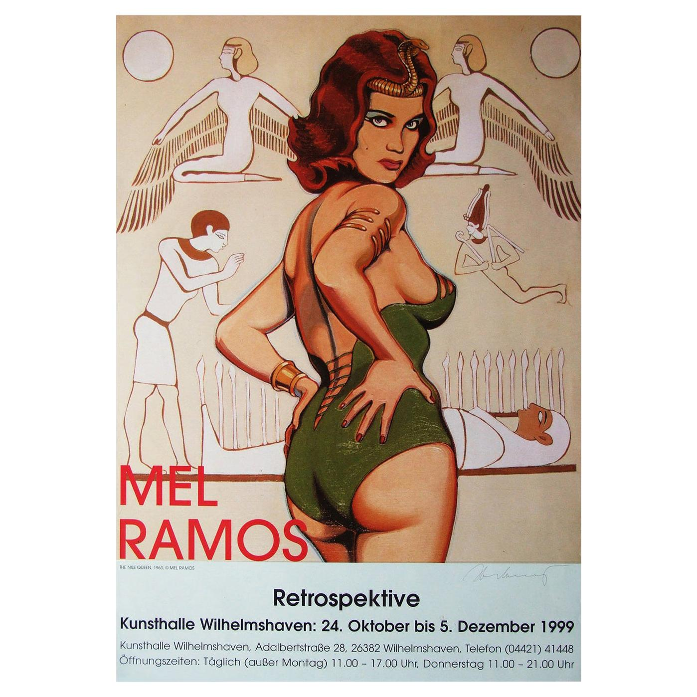 'Nile Queen' Signed Mel Ramos Exhibition Poster Pop Art
