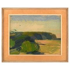 Nils Folke Knafve, Swedish Painter, Modernist Landscape, 1960s