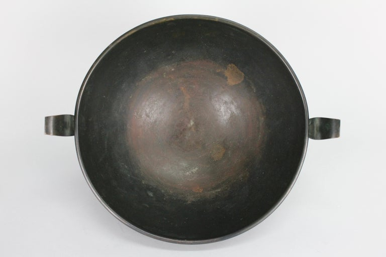 Nils Fougstedt Modernist Bronze Bowl for FAK, Sweden, 1930s For Sale 7
