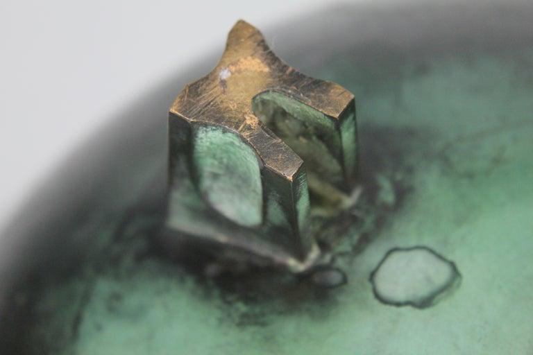 Nils Fougstedt Modernist Bronze Bowl for FAK, Sweden, 1930s For Sale 9