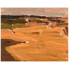 Nils-Göran Brunner, Swedish Painter, Modernist Landscape, 1974