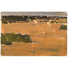 Nils-Göran Brunner, Swedish Painter, Oil /Board, Modernist Landscape
