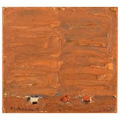 Nils-göran Brunner, Oil on Board, Modernist Composition, 1970
